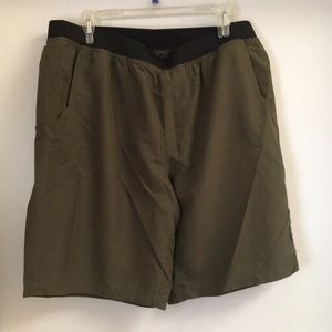 Dark Green Prana Breath Shorts XL